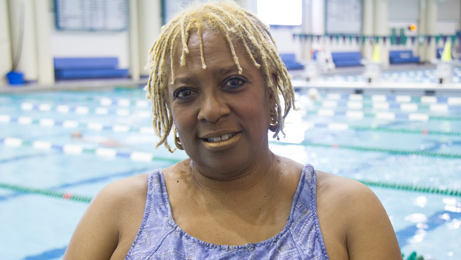 Staff Spotlight: Twain Revell Overcomes Injury, Stays Positive by Teaching Water Exercise