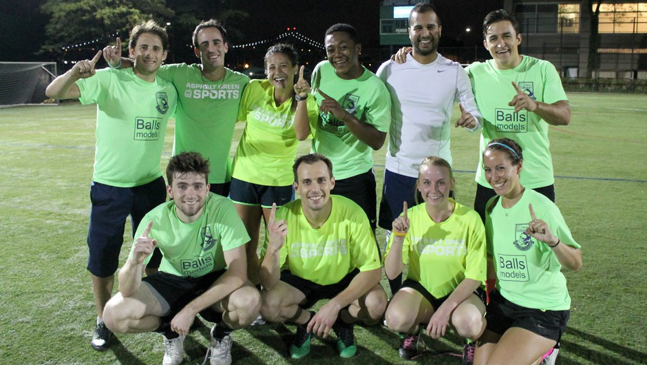 Summer 2014 Weekday Coed Adult Soccer League Champions