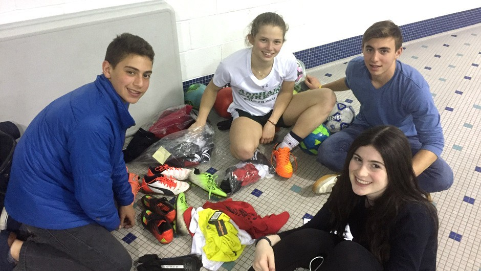 Asphalt Green Youth Leadership Committee Collects Sports Gear for Underserved New Yorkers