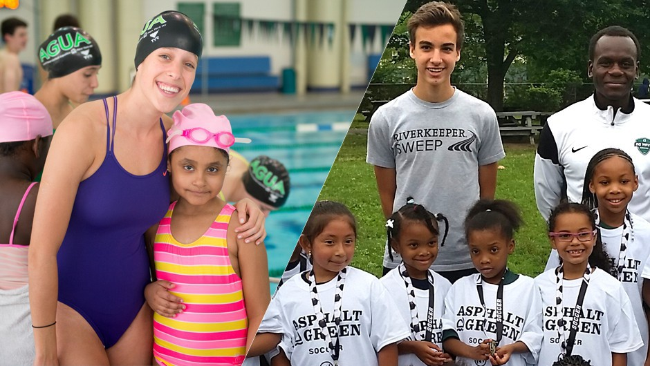 Asphalt Green Swim and Soccer Teams Volunteer for a Good Cause
