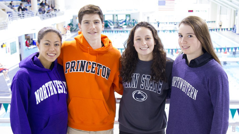 National Letter of Intent Signing Day: Four AGUA Swim Team Athletes Commit to Colleges!